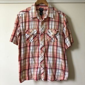 Old Early 2000s Stussy Flannel Button Up Shirt